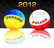 2012 Poland & Ukraine soccer. 2012 Poland & Ukraine soccer balls Royalty Free Stock Photography