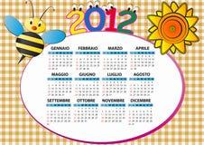 2012 pszczoła kalendarz Zdjęcia Stock