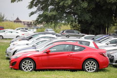 2012 Red Hyundai Genesis Stock Photos