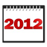 2012 in red on a notepad Stock Image