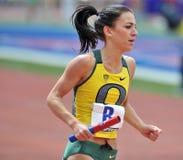 2012 relais de Penn - corredor de distancia de las mujeres de Oregon Foto de archivo