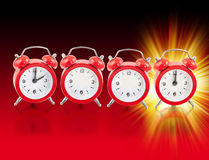 2012 relojes rojos Foto de archivo libre de regalías