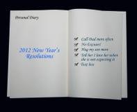 2012 risoluzioni di nuovo anno Immagini Stock Libere da Diritti