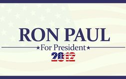 2012 Ron Paul. 2012 for Ron Paul concept illustration background stock illustration