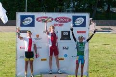 2012 rowerowych diun złota klaipeda rasa Zdjęcie Royalty Free