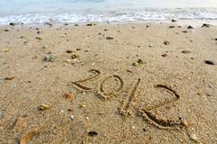 2012 on sand Royalty Free Stock Photography