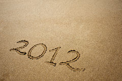 2012 on sand Stock Images