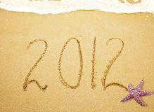 2012 on sand Stock Image