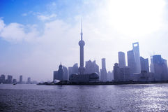2012 Shanghai skyline Royalty Free Stock Photography