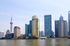 2012 Shanghai skyline Stock Photography