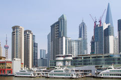 2012 Shanghai skyline Royalty Free Stock Photos