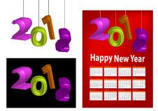 2012 shaped lantern. A set of 2012 design element, 2012 shaped lantern, 2012 calendar stock illustration