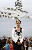 2012 signe de John o'Groats, président de Caithness Image libre de droits