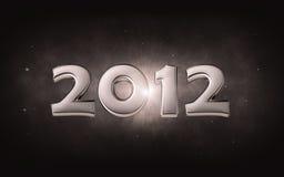 2012 - silbernes Datum 3d Lizenzfreies Stockbild