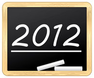 2012 slate chalked. Royalty Free Stock Photography