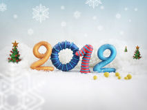 2012 in the snow. A 2012 illustration in the snow Royalty Free Stock Images