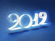 2012 snowy logo. Snowy Text with paper 2012, happy new year Stock Photos