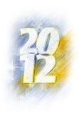 2012 snowy logo Stock Image