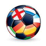 2012 Soccer Ball. Soccer Ball with Flags from the Countries Participating in Euro 2012 Cup Royalty Free Stock Image