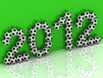 2012 of the soccer balls Royalty Free Stock Photo