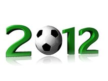 2012 soccer logo. It's a big 2012 soccer logo on a white background royalty free stock photos