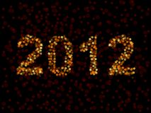 2012 spelled in blurry lights. New year 2012 sign made of unfocused lights Stock Illustration