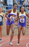 2012 Spoor en Gebied - het relais van Dames 4x100 Royalty-vrije Stock Foto