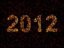 2012 stavade i oskarpa lampor stock illustrationer