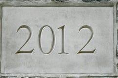 2012 in steen Stock Afbeelding