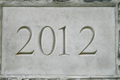 2012 in stone Stock Image