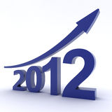 2012 Success. High Quality 3D image of 2012 Success Concept Stock Image