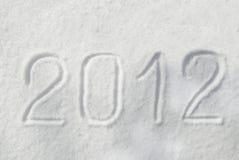 2012 sulla neve Fotografia Stock Libera da Diritti