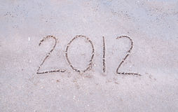 2012 sur la plage Images stock