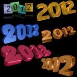 2012 Symbole Lizenzfreie Stockfotos