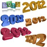 2012 symboler Arkivfoton