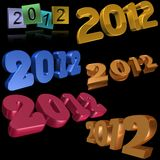 2012 symbols Royalty Free Stock Photos