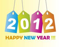 2012 tags. Happy new year background. vector stock illustration