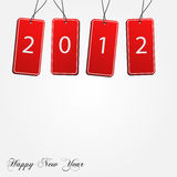 2012 Tags. Image of 2012 tags isolated on a white background vector illustration