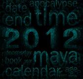2012 (tema del calendario del maya) Fotografía de archivo libre de regalías