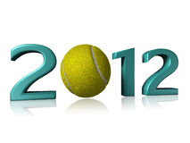 2012 tennis design on a white background. With a little reflection stock illustration