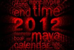 2012 (thème de calendrier de Maya) Image libre de droits