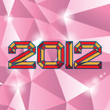 2012 theme. 2012 new year on diamand background Royalty Free Stock Photo