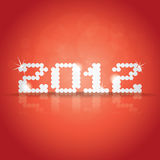 2012 theme. On red background royalty free illustration