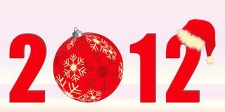 2012 themed jul Royaltyfri Fotografi