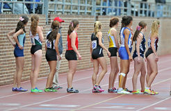 2012 Track - 800 meter relay runners Royalty Free Stock Photography