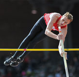 2012 Track - boys pole vault Royalty Free Stock Photography