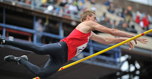 2012 Track - boys pole vault Royalty Free Stock Images