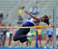 2012 Track and Field - Ladies High Jump Stock Photo