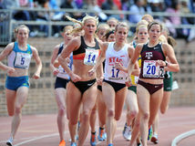 2012 Track and Field - pack of ladies runners Royalty Free Stock Image
