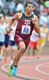 2012 Track and Field - Texas A&M runner Royalty Free Stock Image